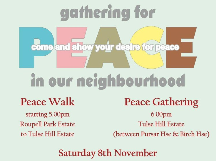 Peace Gathering flyer