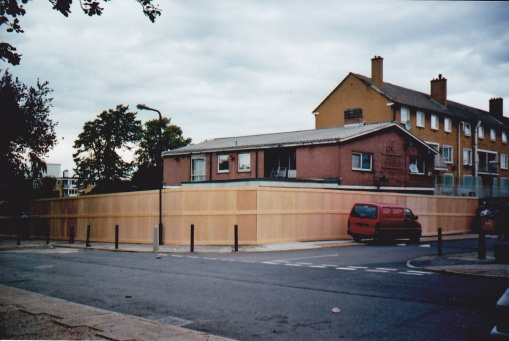 The Chestnut, demolished to make way for Edwards House. This picture was taken in Upper Tulse Hill in Sept 2007
